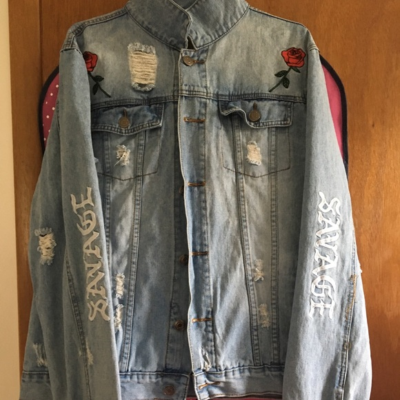 Carbon Jackets Coats Mens Embroidered Jean Jacket Poshmark